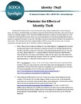 Identity theft : minimize the effects of identity theft